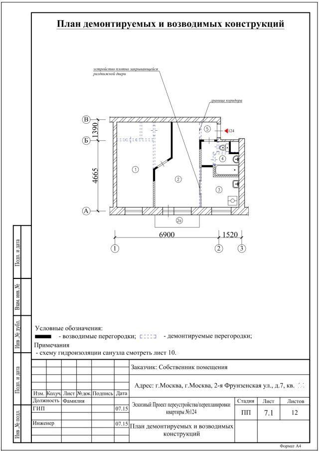 проект перепланировки жилинспекция
